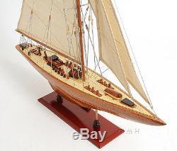 America's Cup 1933 Endeavour J Class Boat 60 Modèle De Yacht En Bois Construit Assemblé