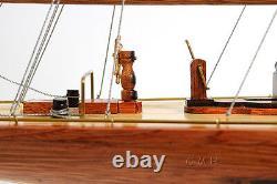 America's Cup 1933 Endeavour J Class Boat 60 Wood Model Yacht Assemblé