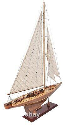 America's Cup Endeavor Yacht Wood Modèle Voilier J Boat 24