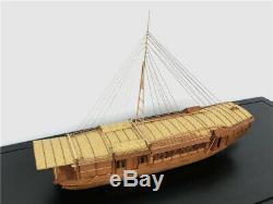 Ancien Bateau De Plaisance Chinois / Japaness 150 563mm Modèle En Bois Kit Navire