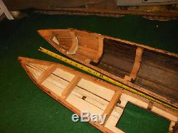Anciennes Bois Grand Modele Le Bateau Maritime Folk Art Handmade Rc Bateau