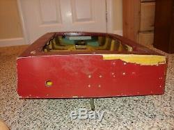 Années 50 Vintage / 60s / 70s Gaz Moteur Entraîné Bois Vitesse Bateau Modèle Speedboat, 49 Hull