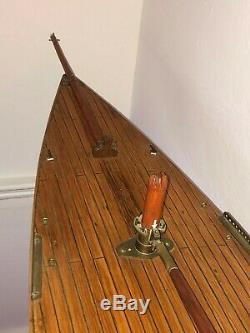 Antique Étang Yacht (modèle Bateau, Bateau À Voile, Étang Bateau, Nautique)