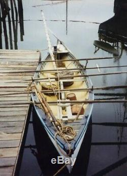 Antique Modèle Whale Bateau En Bois Bateau Voilier Sailors Mât Orrs Et Vitesse