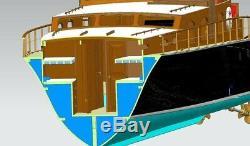 Aphrodite Yacht Échelle 1/18 1253mm 50 Diy Rc Model Bateau Modèle Bois Kit Navire