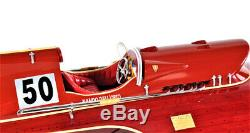 Arno Ferrari Hydroplane En Bois Puissance Speed boat Racing Modèle 23 Entièrement Intégré Nouveau