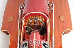 Arno Ferrari Hydroplane Racing Bateau De Vitesse 32 Construit En Bois Maquette De Bateau Assemblé