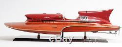 Arno Ferrari Hydroplane Racing Bateau De Vitesse 33,5 Construit En Bois Maquette De Bateau Assemblé