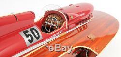 Arno Ferrari Racing Speed boat Hydravion 33,5 Construit En Bois Modèle Navire Assemblé