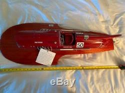 Arno Ferrari Racing Speed boat Hydravion 35 Modèle Bois Navire Assemblé / Haut