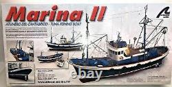Artesania Latina Marina II Tuna Fishing Boat Wood Model Kit 125 Nouvelle Boîte Ouverte