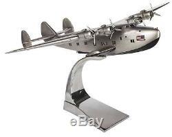 Authentique Ap451 Boeing B-314 Dixie Clipper Flying Boat Bois Bureau Modèle Avion
