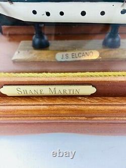 Bateau De Bateau Modèle Au Cas Où J. S. Elcano Shane Martin Voiles En Bois Vintage