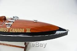 Bateau De Course Miss Canada III G-8 34, Bateau Classique En Bois, Modèle Classique