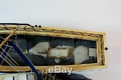 Bateau De Crevette Fait À La Main En Bois Modèle 23 Rc Convertible