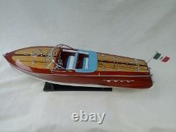 Bateau De Vitesse R. Tritone 26 Quality Model Ship Handmade Italian Boat