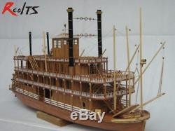Bateau En Bois Bateau Classique Kit Modèle 1/100 Uss Mississippi Bricolage Pour Les Adultes Meilleurs Nouveau
