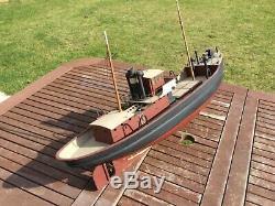 Bateau Modèle. 1950 Vintage Planche En Bois Modèle 3ft
