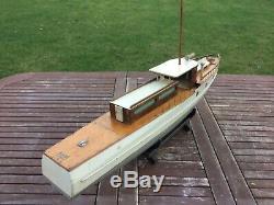 Bateau Modèle. Bassett Lowke Yacht À Moteur C1930 Avant La Guerre
