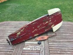 Bateau Modèle. Longe Hydroplane Rare Principal Moteur De 30cc Kittiwake Edgar T Westbury