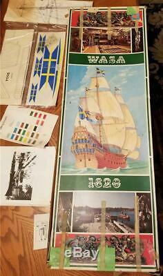 Bateaux Billings Vintage # 491 Raccords Pour Wasa 1628 Modèle Bois Kit Scellé! Rare
