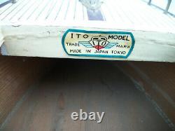 Batterie De Bateau Modèle Ito En Bois Vintage Exploitée Made In Japan