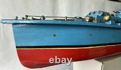 Batterie De Bateau Torpedo Tsukuda Modèle En Bois 46cm Über Rare Vintage Article