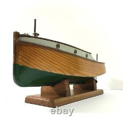 Beau Modèle Vintage Boat Launch Hyakutake Motorisé Stand & Case