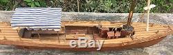 Belle Modèle De Vintage Plaisance Bateau Ou Yacht Bois Bon Etat 19 Pouces
