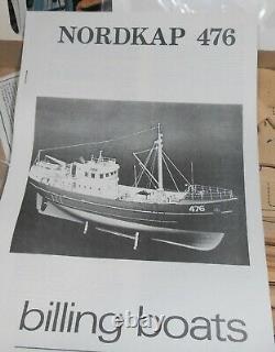 Billings Bateaux Nordkap Ship Model Kit Coque En Bois Anglais Chalutier