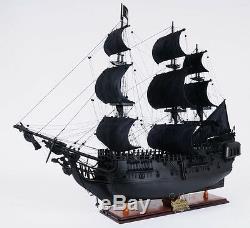 Black Pearl Caribbean Pirate De Tall Ship 35 Modèle Bois Bateau À Voile Avec Affichage