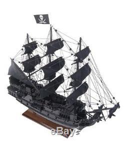 Black Pearl Caribbean Pirate Tall Ship 20 Construit En Bois Modèle Voile Bateau Assemblé