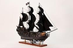 Black Pearl Pirate Grand Bateau En Bois Fabriqué À La Main Modèle 32 Nouveau