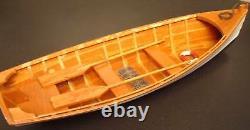Bois Row Boat Skif Dory Canoe Modèle Bateau À Rames Skiff 11,5 Décoration Nautique Nouveau