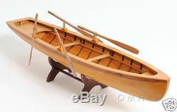 Boston Whitehall Row Boat Model 24 En Bois Avec Attelage Pour Bateau Nouveau