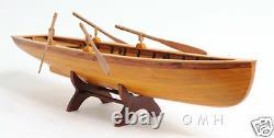 Boston Whitehall Row Boat Wood Modèle 24 Pulling Boat Tender Nouveau
