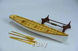 Boston Whitehall Tender Canoe 24 En Bois Fait Main Ligne Modèle Bateau