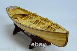 Boston Whitehall Tender Natural Canoe 24 Wooden Handmade Row Boat Modèle