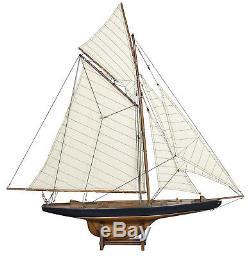 Britannique 37 Coupe De L'america 1901 J Class Yacht Bois Voilier Voilier Nouveau Modèle