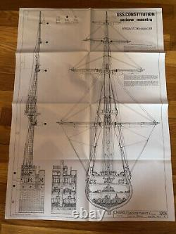 C. Mamoli Uss Constitution Cross Section Model Kit 193 Scale New Ship Model