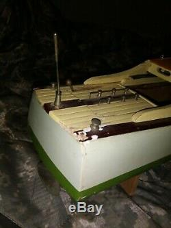 Cabin Cruiser Vintage Modèle De Bateau En Bois Ito Modèle K K Japon