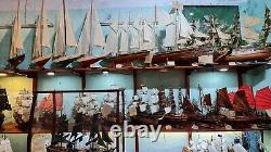 Cadeau De Décoration De Bateau Modèle De Bateau De Voile En Bois Atlantic