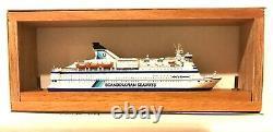 Carat C-35 Danemark Ferry Couronne De Scandinavie 1/1250 Modèle Bateau Bois Avec Le Soutien