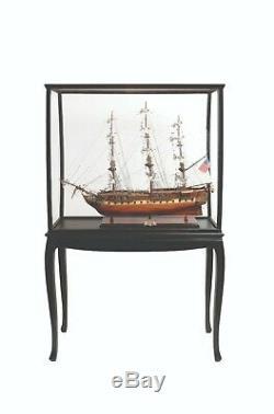Case Presentoir Pour Les Modèles Tall Ship Yacht Bateau Décor Bois Et Plexiglas Étage