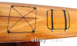 Cedar Strip Aleut Et Eskimo Kayak 42 Modèle En Bois Pour L'affichage Seulement Assemblé