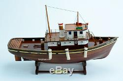 Cheryl Ann Remorqueur Modèle De Navire En Bois 20 Handcrafted Assemblé 1955 Bord De L'eau