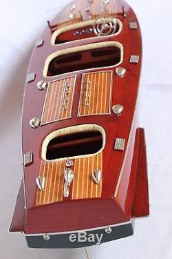 Chris Craft Bateau 25 (62cm) En Bois Modèle
