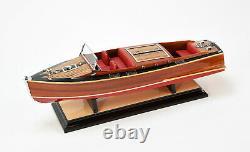 Chris Craft Runabout 21 Handmade Wooden Classic Boat Modèle Nouveau