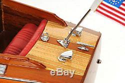 Chris Craft Runabout Bois Modèle 24 Classique Mahogany Racing Speed boat Nouveau