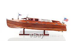Chris Craft Runabout Wood Model 24 Classic Mahogany Racing Bateau De Vitesse Nouveau